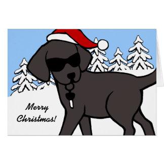 Tarjetas de Navidad oscuras negras frescas del