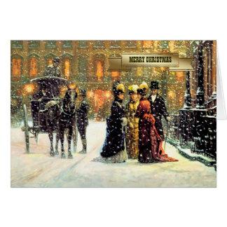 Tarjetas de Navidad parisienses del estilo del