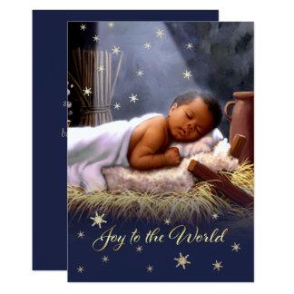 Tarjetas de Navidad planas de Jesús del bebé Invitación 12,7 X 17,8 Cm