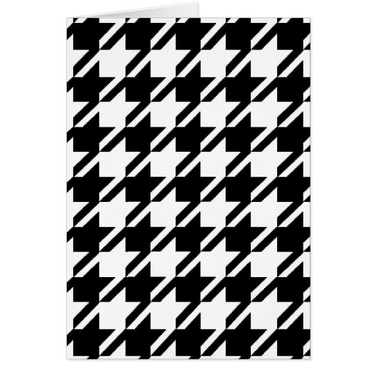 Tarjetas de nota blancos y negros de Houndstooth