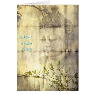 Tarjetas de nota de la meditación de la yoga de