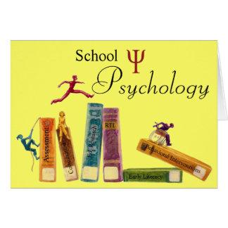 Tarjetas de nota de la psicología de la escuela
