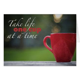 Tarjetas de nota de la vida del café
