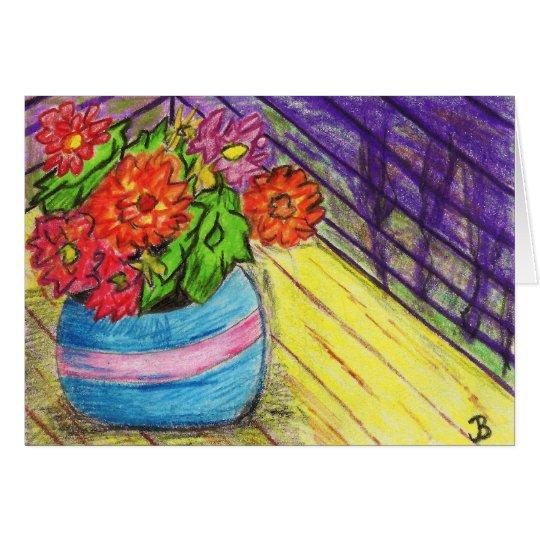 Tarjetas de nota de las flores