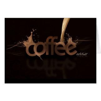 Tarjetas de nota del adicto al café de la diversió