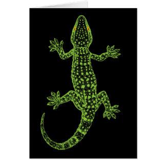 Tarjetas de nota del Gecko