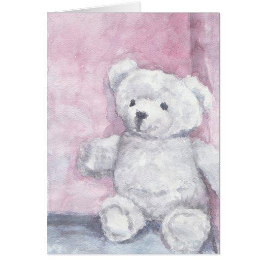 Tarjetas de nota del oso de peluche de la