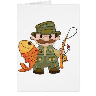 Tarjetas de nota del pescador