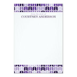 Tarjetas de nota geométricas púrpuras modernas del invitación 8,9 x 12,7 cm
