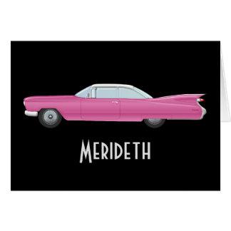 Tarjetas de nota personalizadas de Cadillac del