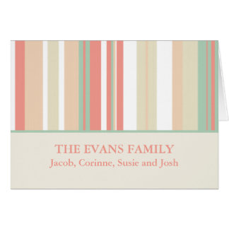 Tarjetas de nota personalizadas de la familia