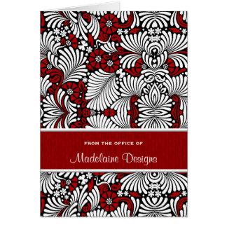 Tarjetas de nota personalizadas madera roja del
