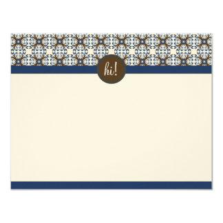 Tarjetas de nota planas decorativas de moda invitación 10,8 x 13,9 cm