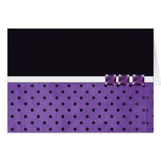Tarjetas de nota púrpuras del diseñador