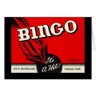 Tarjetas de nota retras de Bevvie del bingo de la