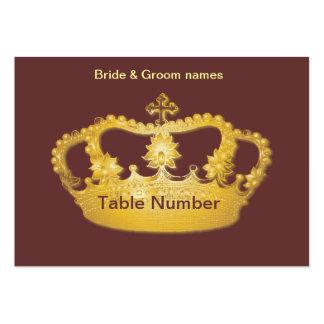 Tarjetas de oro del lugar de la recepción de la tarjetas de visita grandes