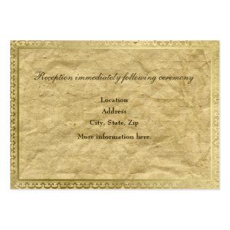 Tarjetas de papel del recinto de la recepción del tarjetas de visita grandes