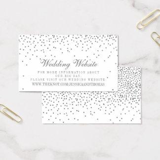 Tarjetas de plata atractivas del Web site del boda