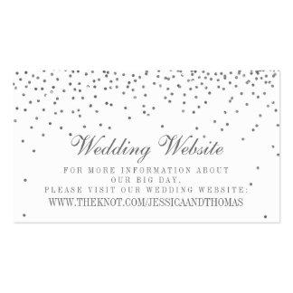 Tarjetas de plata atractivas del Web site del boda Tarjetas De Visita