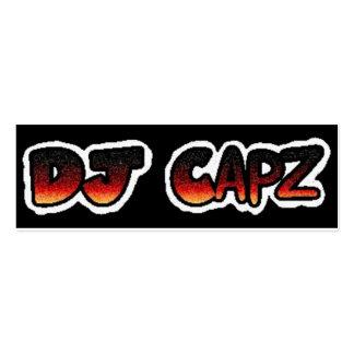 Tarjetas de presentación de DJ Capz Tarjetas De Visita Mini