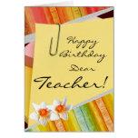 Tarjetas de profesor del feliz cumpleaños