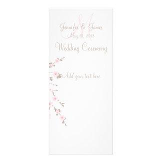 Tarjetas de programa de la ceremonia de boda de la comunicados