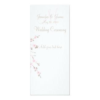 Tarjetas de programa de la ceremonia de boda de la invitación 10,1 x 23,5 cm