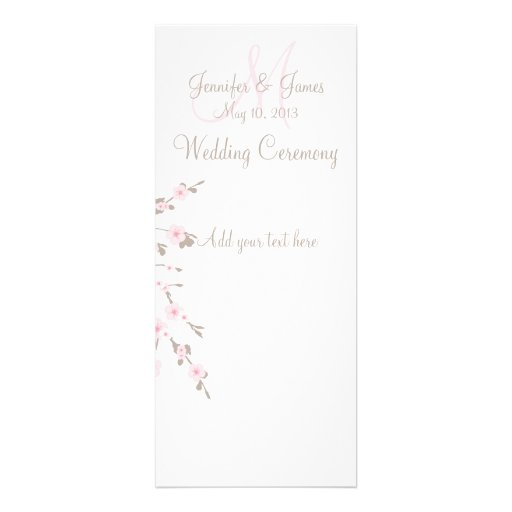 Tarjetas de programa de la iglesia del boda de la  anuncios personalizados