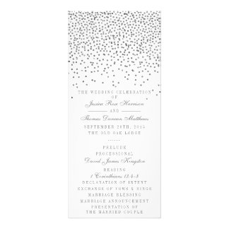Tarjetas de programa de plata atractivas del boda lonas