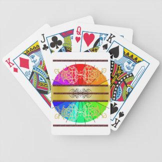 Tarjetas de regalos adornadas elegantes de los baraja de cartas bicycle