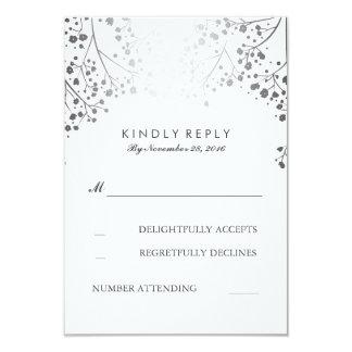Tarjetas de RSVP de la bodas de plata de la Invitación 8,9 X 12,7 Cm
