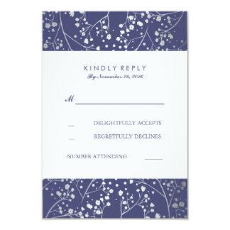 Tarjetas de RSVP de la bodas de plata de la marina Invitación 8,9 X 12,7 Cm