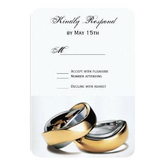 Tarjetas de RSVP de la bodas de plata de los Invitación 8,9 X 12,7 Cm