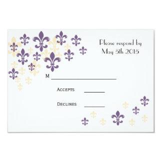 Tarjetas de RSVP de la cascada de la flor de lis Invitación 8,9 X 12,7 Cm