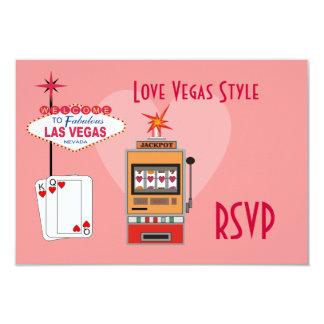 Tarjetas de RSVP del estilo de Vegas del amor Invitación 8,9 X 12,7 Cm