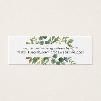 Tarjetas de RSVP del Web site del boda de la