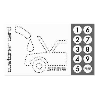 tarjetas de sacador cortadas automotrices tarjeta personal
