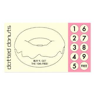 tarjetas de sacador cortadas buñuelo tarjetas de visita