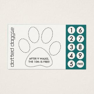 tarjetas de sacador cortadas caminante del perro