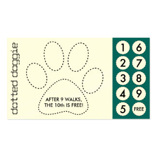 tarjetas de sacador cortadas caminante del perro tarjetas de visita