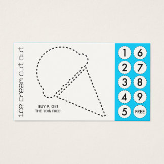 tarjetas de sacador cortadas del helado