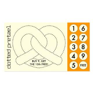 tarjetas de sacador cortadas del pretzel suave tarjetas de visita