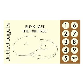 tarjetas de sacador cortadas panecillo tarjetas de visita