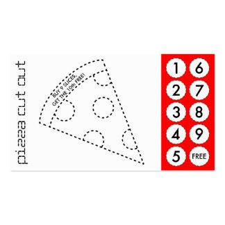 tarjetas de sacador cortadas pizza tarjeta de visita