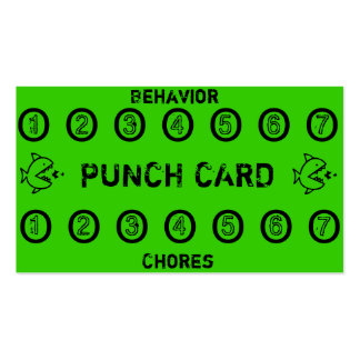 Tarjetas de sacador de la tarea de los niños tarjeta de visita