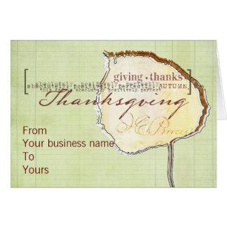 Tarjetas de Thanksgivng del negocio