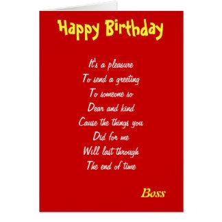 Tarjetas de un cumpleaños buenas de Boss