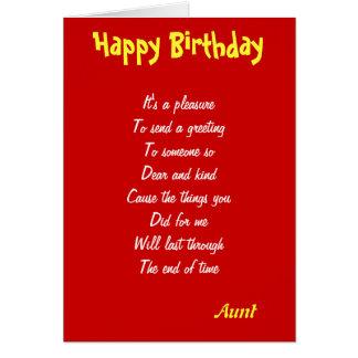 Tarjetas de un cumpleaños buenas de la tía