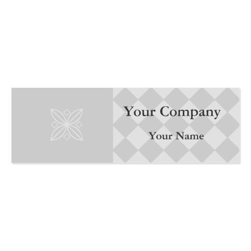 Tarjetas de visita a cuadros grises profesionales