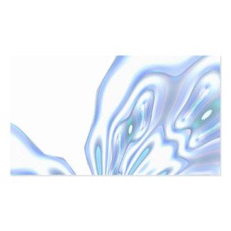 Tarjetas de visita abstractas del color de agua de